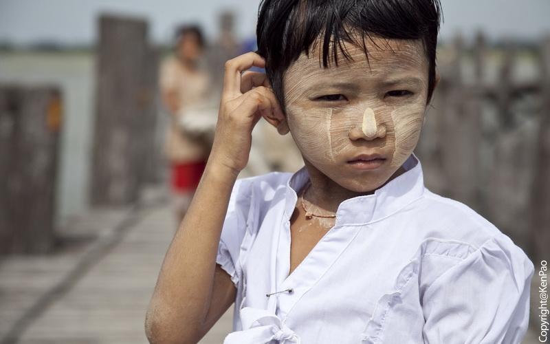 A Girl on U Pein Bridge Mandalay