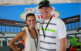Kyle Bush visiting Exotics Racing in Las Vegas