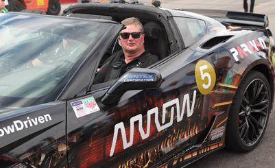 Sam Schmidt driving a Corvette C7 Z06