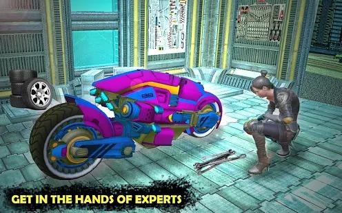 Futuristic Sci Fi Bike Parking - Bike Parking Game Screenshot