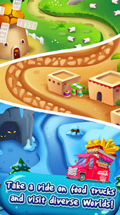 Food Burst : Puzzle Game with Super food truck Screenshot