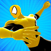 Spider Power Rope Hero - Super Crime City Battle
