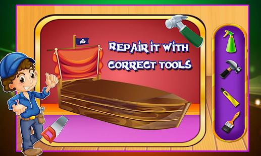 Bed Repair Shop - Shiny room decoration Screenshot