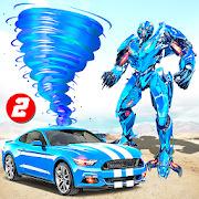 Transform Tornado Robot Car Simulator: Robot Games