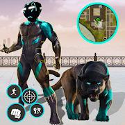 Black panther Stickman Rope Hero Gang Star Crime.