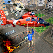 Real City Police Helicopter Games: Rescue Missions