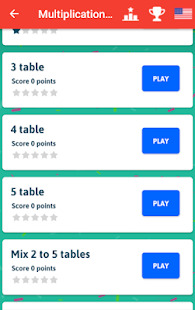 Multiplication Tables - Free Math Game Screenshot