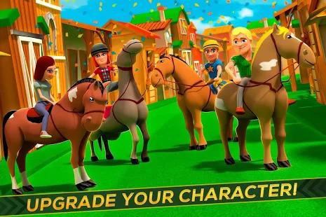 Cartoon Horse Riding - Derby Racing Game for Kids Screenshot