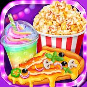 Movie Night Party  - Yummy Pizza, Soda & Popcorn