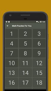 Math puzzles, math riddles, math games. Math. Screenshot