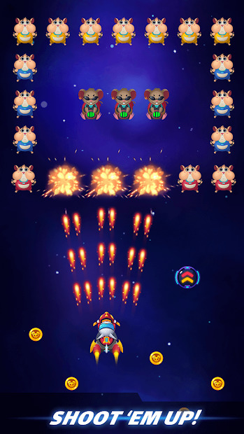 Cat Squadron - Galaxy Shooter - Space Shooter Screenshot