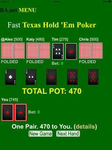 Fast Texas Hold ´Em Poker BA.net Screenshot