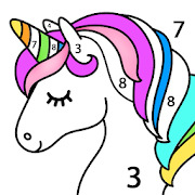 Unicorn Color by Number  Unicorn Coloring Book