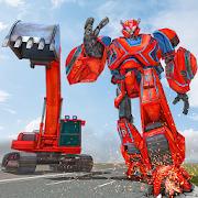 Excavator Robot Transformation: Robot Shooting
