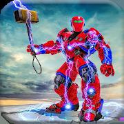 US Police Hammer Robot Fighting Robot War Game
