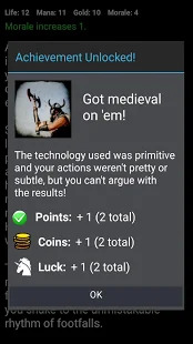 D&D Style Medieval Fantasy RPG Choices Game Screenshot