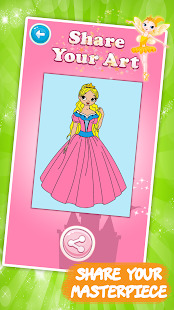 Kids coloring book: Princess Screenshot