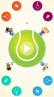 Circular Tennis 2 Player Games Screenshot