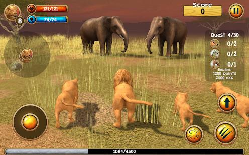 Wild Lion Simulator 3D Screenshot