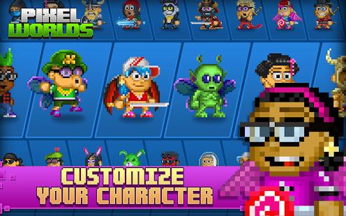 Pixel Worlds: MMO Sandbox Screenshot