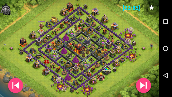 Maps of Clash Of Clans Screenshot