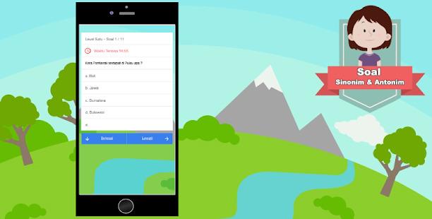 Aplikasi Soal Sinonim Dan Antonim Di Smartphone Screenshot