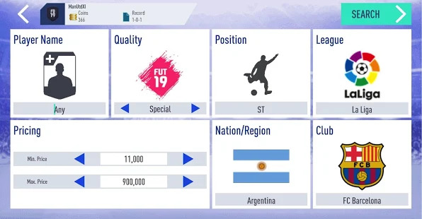 Draft Simulator for FUT 19 Screenshot