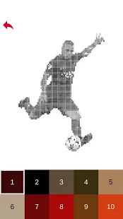 Gameslol Game Football Players Color By Number Pixel