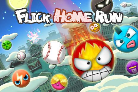 Flick Home Run! baseball game Screenshot