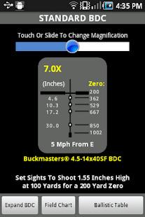 Nikon SpotOn Ballistic Match Screenshot