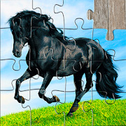Horse Jigsaw Puzzles Game - For Kids & Adults ????