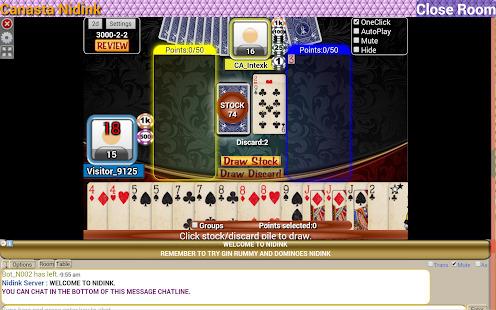Canasta Nidink Screenshot