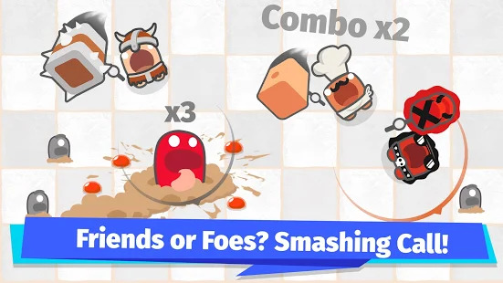 Smashers.io Foes in Worms Land Screenshot