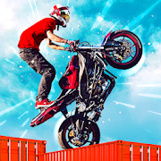 Dirt Bike Roof Top Racing Motocross ATV race games