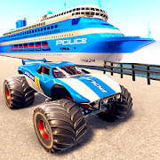 Real Police Monster Truck Cargo Ship Driving