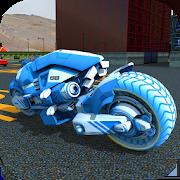 Futuristic Sci Fi Bike Parking - Bike Parking Game