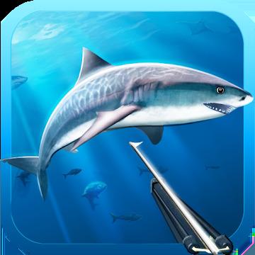 Hunter underwater spearfishing