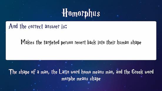 Trivia for Harry Potter Spells Screenshot