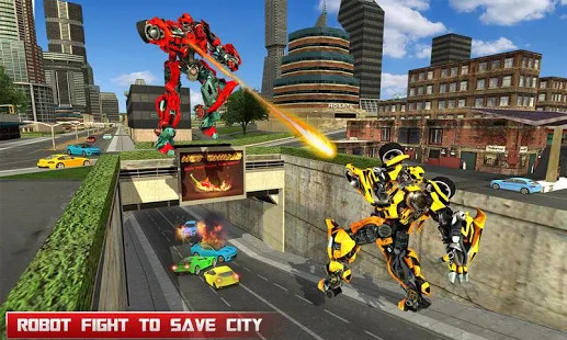 Fire Truck Real Robot Transformation: Robot Wars Screenshot