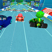 Tag with mask racing rush  Challenge the super kid