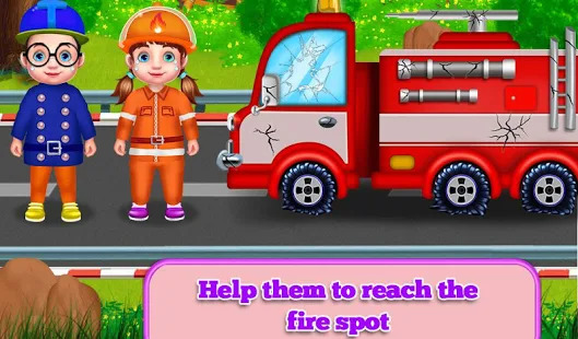 Rescue People From Fire House Fun Fire Fighter Screenshot