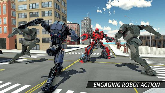 Air Robot Game - Flying Robot Transforming Plane Screenshot
