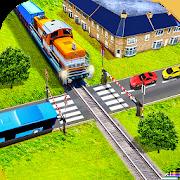 Euro Railroad Crossing: Railway Train Passing 3D