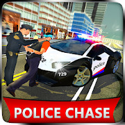 US Police Car Chase Cop Robot Transform Simulator