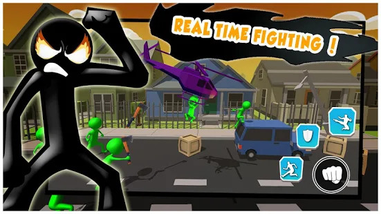Anger Of Stickman : Zombie Shooting Game Screenshot