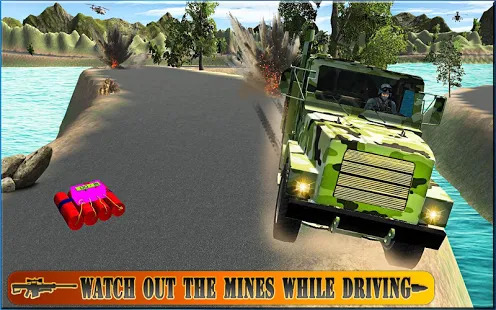 Real Drive Army Check Post Truck Transporter Screenshot