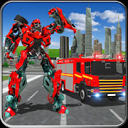 Fire Truck Real Robot Transformation: Robot Wars