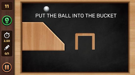 Brain Physics Puzzles : Ball Line Love It On Screenshot