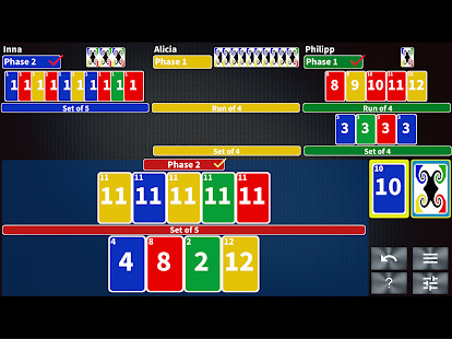 Phase Rummy: card game with 10 phases Screenshot