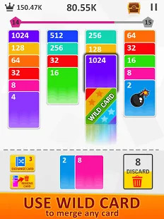 2048 Merge Solitaire Screenshot